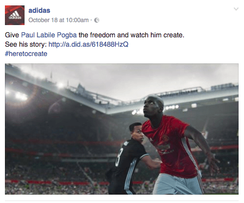 Pogba Adidas Campaign: an example of how to build an audience on Facebook