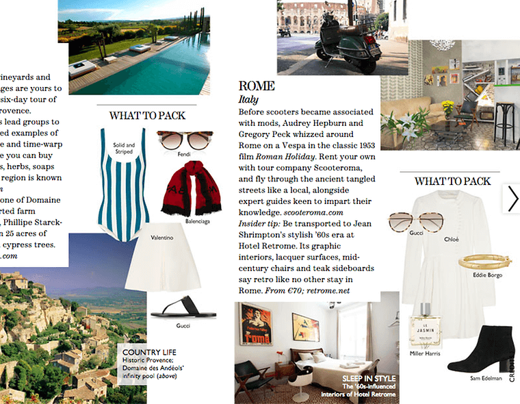 shoppable content example from Net-A-Porter