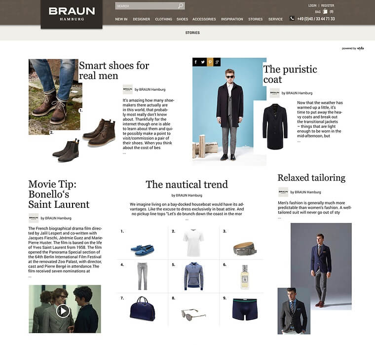 BRAUN Hamburg gives an example of how to do content marketing in fashion