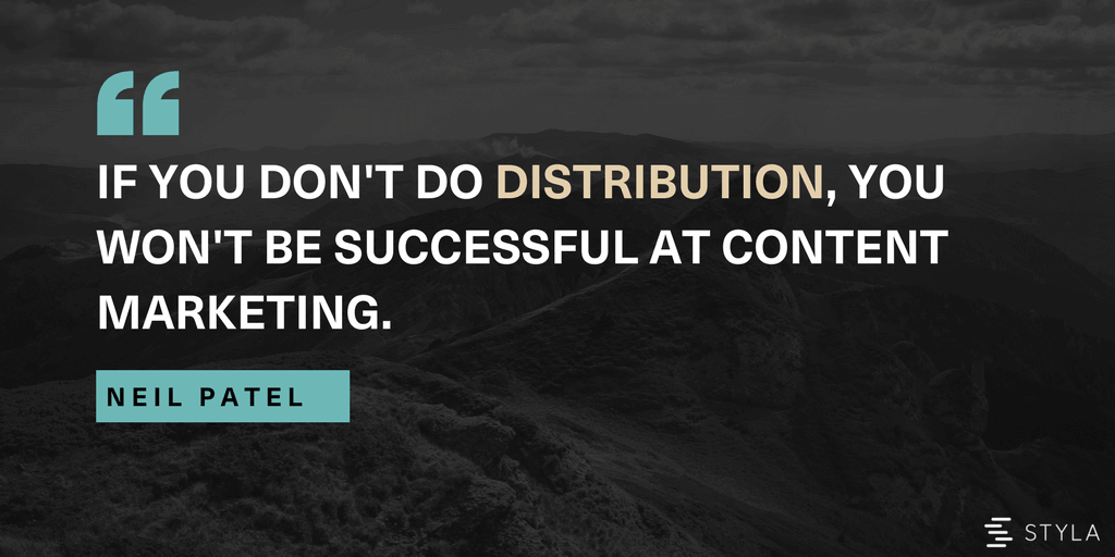 Neil Patel on content distribution in marketing